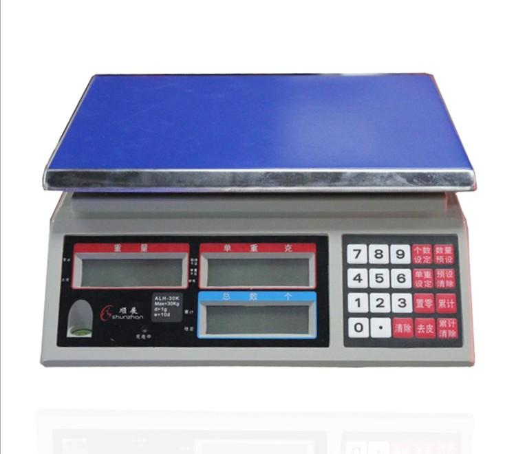 顺展高精度计数称 工业用电子秤 ALH-15电子桌称