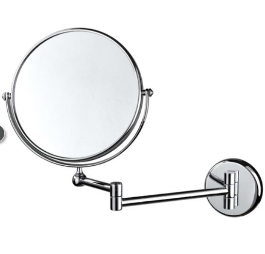 全铜仿古不锈钢太空铝合壁挂式带LED灯双面化妆镜