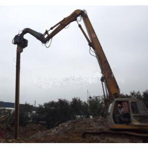 安徽供应震动锤打桩机加长臂16米钢板桩