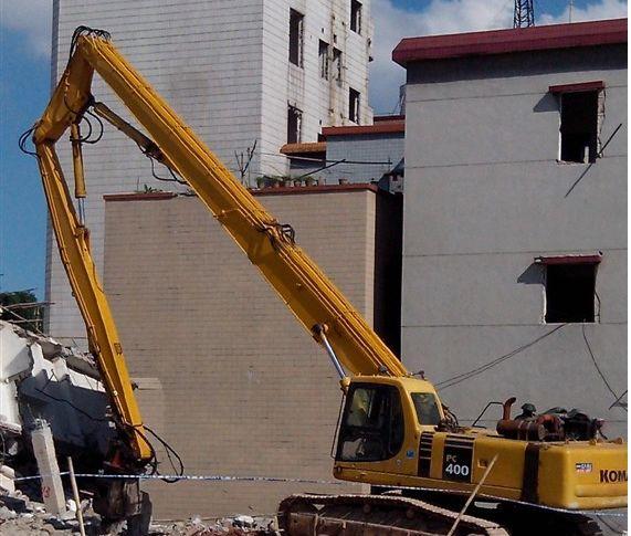 安徽供应拆迁挖掘机三段式加长臂