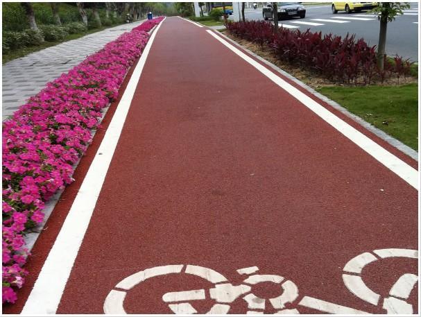 淄博市的彩色沥青混凝土与原生态印记亲密接触