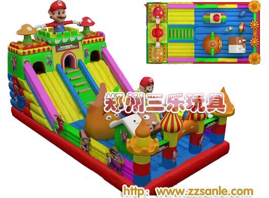 河北廊坊儿童充气玩具滑梯,大型CJML充气滑梯