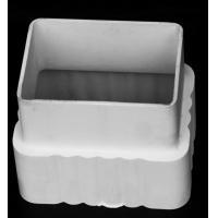 PVC天沟水槽全塑方形下水管落水管雨水管方管接头直接管箍