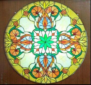 高端定制加工教堂艺术玻璃门窗橱柜使用