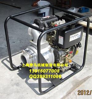 [热销现货]上海赞马4寸柴油水泵,手启动,自吸水泵