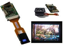 全彩DIY夜视仪显示器AV信号输入 单目FPV显示取景器 无亮点