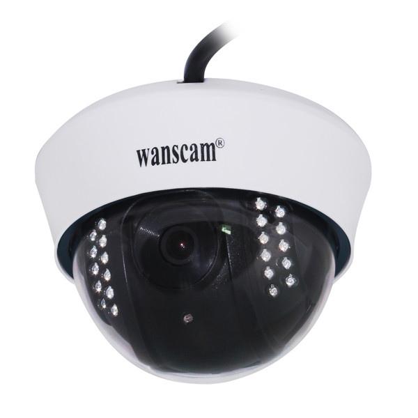 wanscam品牌C128室内吸顶红外夜视半球IP网络摄像机