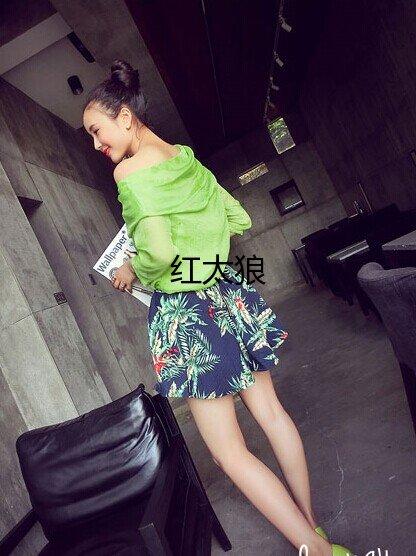 夏天韩版清凉印花时尚裙裤