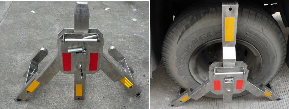 路政车轮锁泥头车车轮锁 不锈钢锁车器