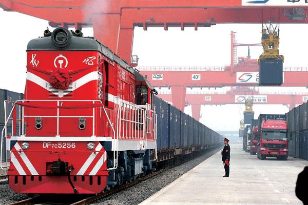 徐州、青岛、天津至蒙古国、乌法、秋明、车里雅宾斯克铁路运输