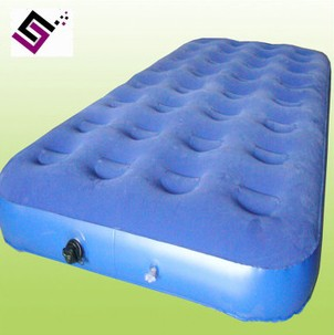 充气家具床垫单人 成人充气植绒家具