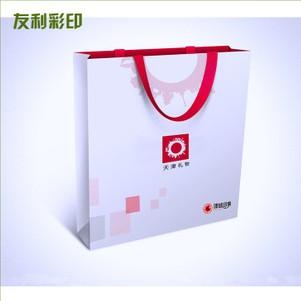 纸质创意手挽袋 白卡礼品手挽袋