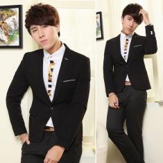 新款男装韩版西服修身休闲小西装