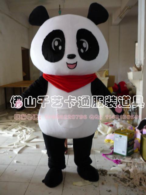 供应卡通吉祥物公仔,毛绒玩偶,卡通人偶服装熊猫