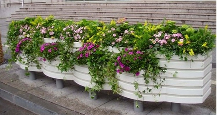 塑料花箱供应_复合塑料花箱_塑料组合花箱