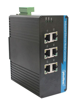 振兴通讯百兆6电口工业交换机