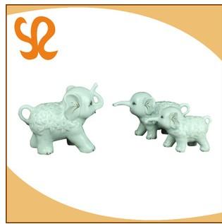 吉祥三宝动物摆件 客厅陶瓷摆件