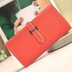 女式皮带扣3三折钱包 女士多色手拿包包