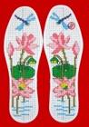 十字绣针孔印花鞋垫厂家代理批发图案花样大全十字绣针孔印花鞋垫