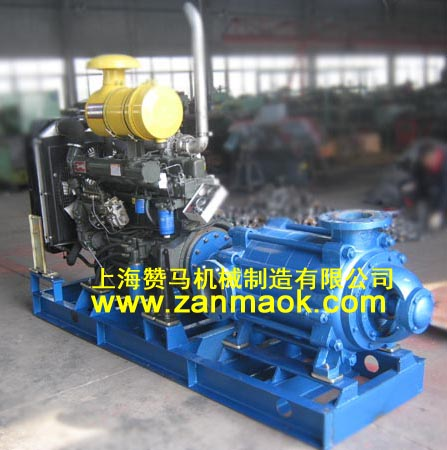 上海赞马180米高扬程水冷柴油机多级泵,柴油水泵,防汛专用