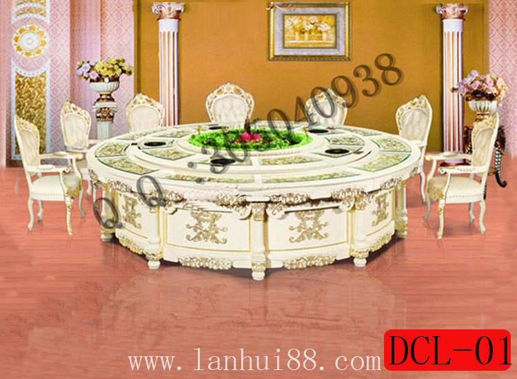 豪华酒店包房电动餐桌垫\红木电动餐桌椅厂家批发价格