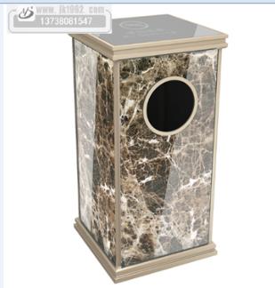 包装:纸箱包装     航空铝垃圾桶适用于酒店宾馆