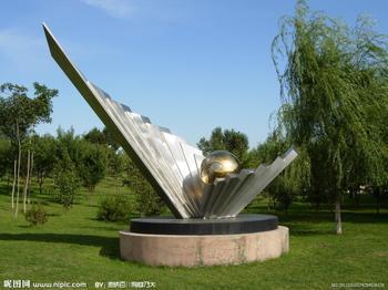 北京不锈钢雕塑,公园景观雕塑,不绣钢园林小品雕塑