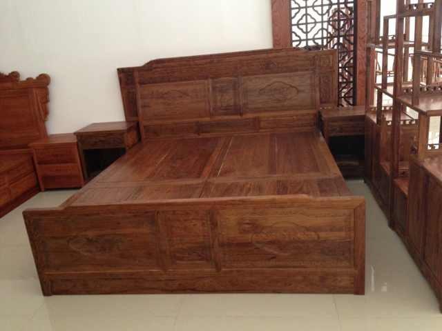 红木大床、仿古大床中式仿古红木大床豪华山水大床