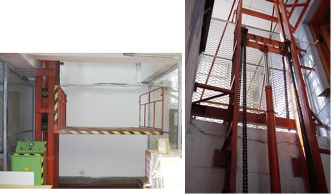货电梯产品说明:导轨式液压升降平台是一种非剪叉式液压升降台,用于二