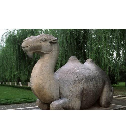 石雕骆驼_动物雕塑_新业雕刻