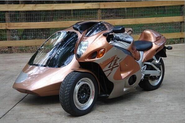 铃木隼Suzuki边三轮摩托车 进口挎斗摩托车 倒三轮摩托车跑车