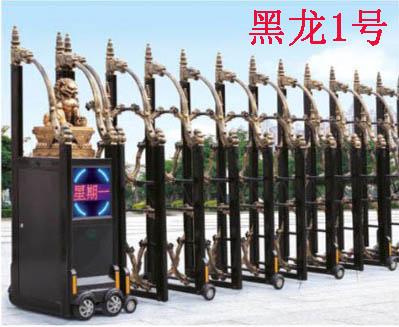 园岭专业生产自动伸缩门,不锈钢伸缩门,铁艺伸缩门