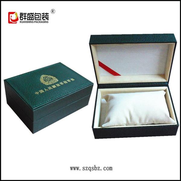 手表盒厂家专业生产军绿色手表包装盒  充皮纸手表盒 胶胚手表盒