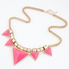 新款饰品欧美时尚别致个性三角形项链批发