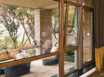 霍夫曼门窗供应专业的木包铝门窗【火热畅销】:铝木窗价格
