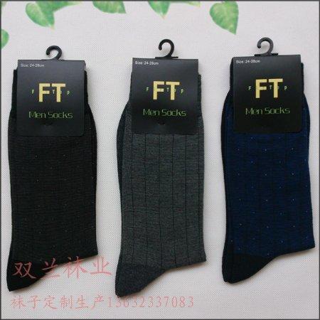 12双礼盒装长筒商务男袜 精梳纯棉男袜 商务男袜袜厂