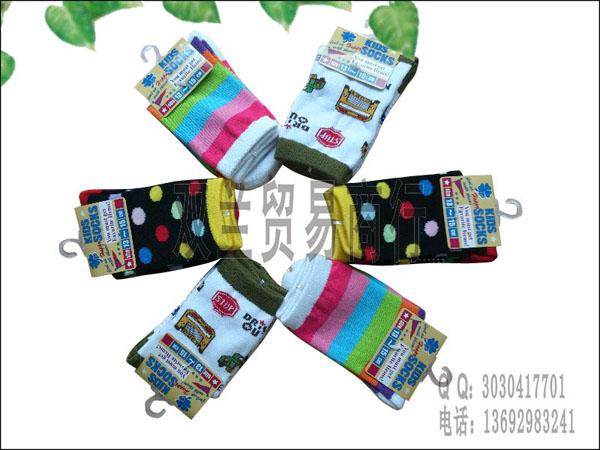 外贸儿童袜 kids socks 佛山儿童袜子厂