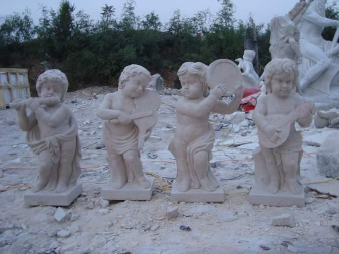 汉白玉小天使汉白玉雕塑曲阳雕塑