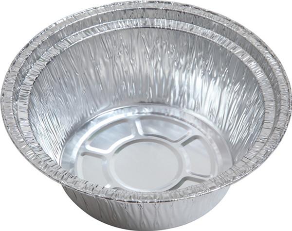 厂家生产供应圆形一次性外卖打包煲仔饭铝箔餐盒