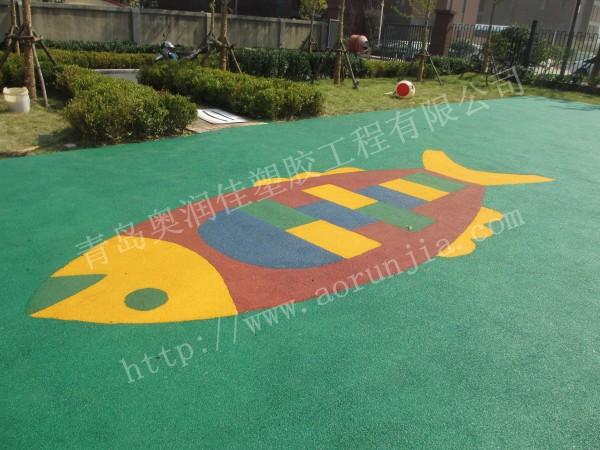 幼儿园塑胶地面-奥润佳个性图案设计
