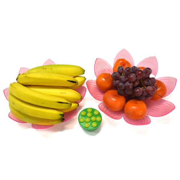 厂家直销塑胶莲花果盘,春节热卖果盘,热销水果盘