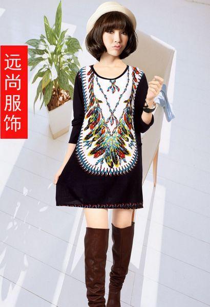 秋冬季打底衫服装批发时尚烫钻羊绒裙便宜批发
