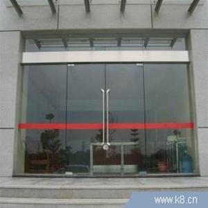 北京安装玻璃门安装不锈钢包边玻璃门
