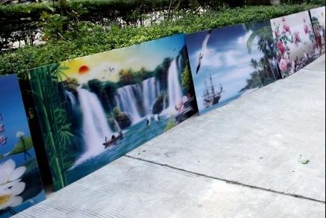 3D光栅板材3D背景画制作