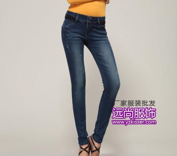 最便宜个性百搭铅笔裤韩版修身弹力牛仔裤批发