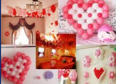 气球色彩搭配 我的浪漫婚房不是梦