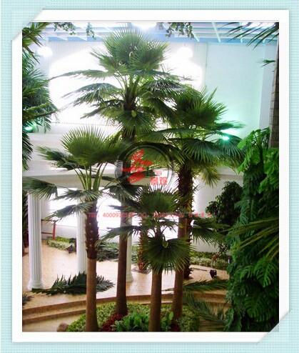 仿真包柱椰子树 室外仿真大型景观树