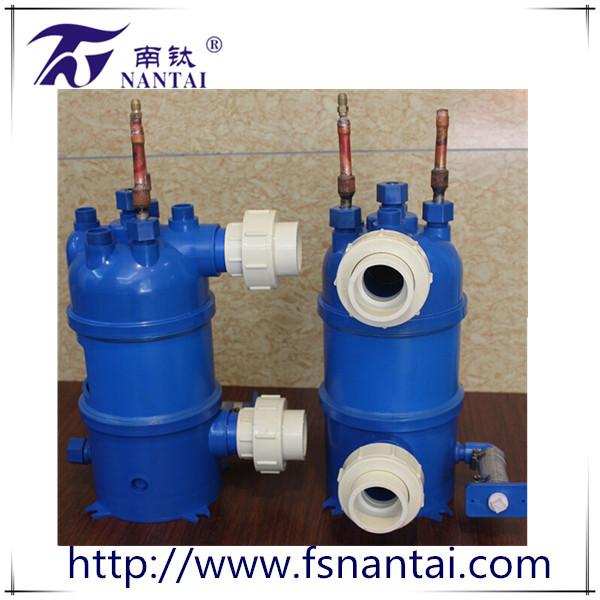 高效能泳池热泵钛螺纹管换热器