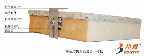 粘结式超薄石材复合保温装饰板