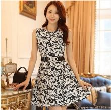 新款韩版修身显瘦短袖气质雷丝裙子夏连衣裙